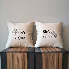 7 she s a catch he s a keeper harry potter pillow covers