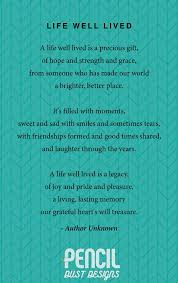 life well lived a collection of non religious funeral poems that help soothe our grieving hearts curated by pencil dust designs creators of personalised