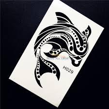 1 шт прекрасный дельфин временные татуировки летом стиль боди арт