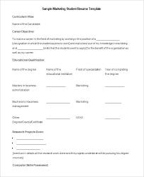 Student Resume Template Microsoft Word Delectable Is There A Resume Template In Microsoft Word Student Resume Template