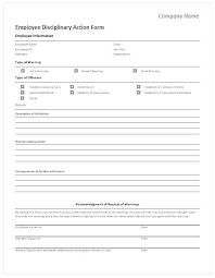 Disciplinary Forms For Employees Free Employee Disciplinary Action Form Juanbruce Co