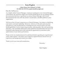 Example Of Executive Cover Letters Leading Professional General Manager Cover Letter Examples