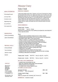 Sales Clerk Resume Example Sample Cash Handling Cv Layout