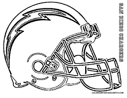Coloring Pages Football Helmet Kidsfreecoloring Net