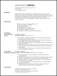 Free Executive Digital Marketing Manager Resume Template Resume Now