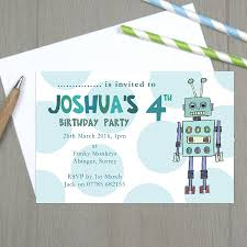 moo invitations robot birthday party invitations best party ideas