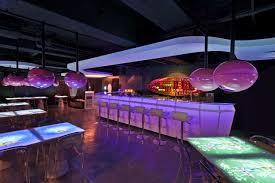 bar interiors design 2. Interior,Purple Bar Design Ideas With Metal Chrome Back Chair And Futuristic Pendant Lamp Feat White Plywood Ceiling Accent,Bar Interior Interiors 2