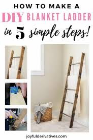 how to make a blanket ladder for 25
