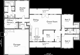 one y house plans with 4 bedrooms awesome single level house plans e story house plans