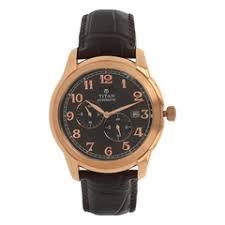 buy men watches online at best price in titan titan brown dial analog watch for men