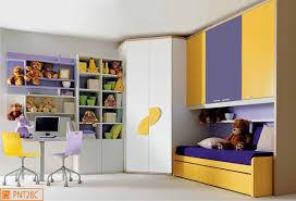 Cameretta a ponte per bambini con cabina armadio angolare