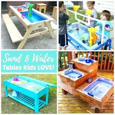 outdoor play cabana kids sandbox with striped canopy and storage bins plans