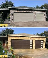 best garage door company new garage doors from modern steel collection give this ranch instant contemporary curb appeal garage door company leicestershire