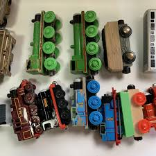 thomas the train wooden train lot with other thomas train items and and geo trax train item 129