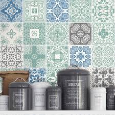 Kitchen Tile Decals Stickers Kitchen Splashback Blue Pastel Tile Stickers Kitchen