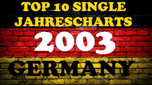 Top 10 Single Jahrescharts Deutschland 2003 Year End Single Charts Germany Chartexpress
