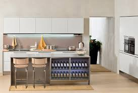 Modern Kitchen Island For Picture Of Arclinea Modern Kitchen Island With Wine Rack