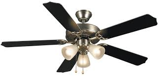 cool black ceiling fans. Hardware House 415935 Paladuim Flush-Mount 52-Inch 5-Blade Ceiling Fan With Optional Light Fixture, Satin Nickel - Amazon.com Cool Black Fans R