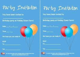 Party Invitation Template Word Free Party Invitation Template