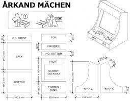 blueprint cabinet plans copy diy arcade cabinet pdf