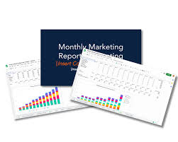 Weekly Marketing Report Template Monthly Marketing Reporting Templates Free Download