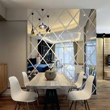 mirrored walls in living rooms diamonds triangles wall art acrylic mirror wall sticker house decoration wall