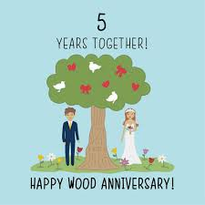 Wedding Anniversary Card Wood Year Office Messages Cards For Husband