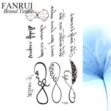 25 дизайн крутая буква временные листья татуировки ветка цветок водостойкая