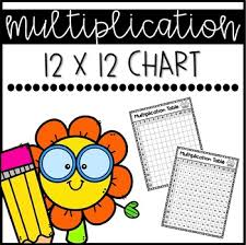 Blank Multiplication Chart Up To 12 Multiplication Chart Up To The 12s Freebie