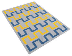 arvada geometric rug gray and yellow 5 x8 contemporary area rugs by alliyah rugs inc