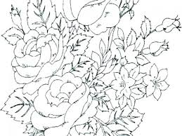Free Printable Simple Flower Coloring Pages Bouquet Small Astounding