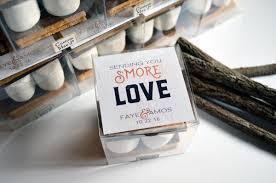 smore love wedding favors