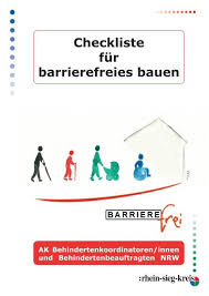 Für blinde und sehbebehinderte menschen ist die absturzgefahr nach bauvorlagenverordnung ist das konzept barrierefrei in den bundesländern berlin, brandenburg, bremen, hessen, nrw. Checkliste Fur Barrierefreies Bauen Rhein Sieg Kreis