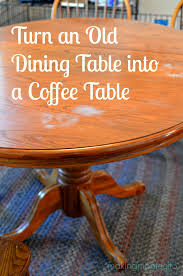 making montecito dining table to coffee table