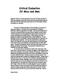 of mice and men critical evaluation gcse english marked by page 1 zoom in