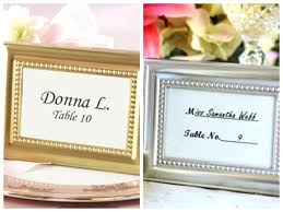 wedding and party decoration gift of beaded silver gold photo frame place card holder personalized picture