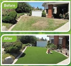 artificial turf yard. Before And After Florida Artificial Grass Front Lawn Turf Yard A