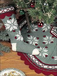 Christmas Tree Skirt Crochet Pattern Best Knitting Holiday Seasonal Scandinavian Snowflake Tree Skirt