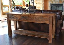 sofa table with storage baskets. Image Of: Great Rustic Sofa Table Check Your Homes Inside With Storage Baskets