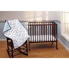 3 piece boys girls disney mickey mouse portable crib nursey baby bedding set