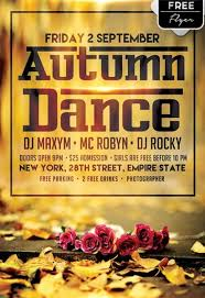 free dance flyer templates get autumn dance flyer template psd flyershitter com