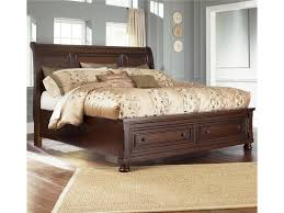 Ashley Furniture Porter Queen Sleigh Bed with Storage Footboard ...