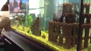 Mario Brothers Aquarium Decorations Super Mario Fish Tank Youtube
