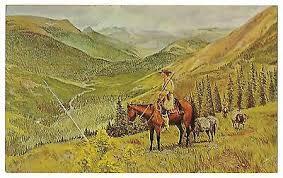 BEAVER VALLEY Mountain Men Glacier N'tl Park Byron Wolfe Vintage Postcard  1964   eBay