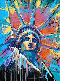 new painting statue of liberty new york art usa by damon gray