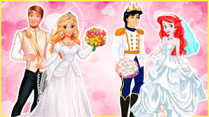 Small Picture Disney Princesses Rapunzel and Ariel Wedding with Flynn Rider and