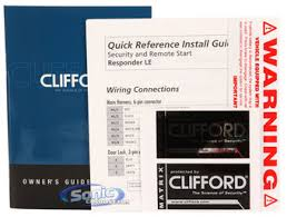 clifford 5204x remote start car alarm keyless entry system product clifford matrix responder le 5204x