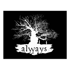 Harry Potter Always Quote Gorgeous Harry Potter Spell Always Quote Silhouette Postcard Zazzlecouk