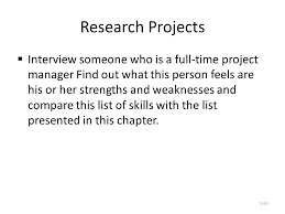 weaknesses interview list cipanewsletter 1 1 ch 1 introduction to project management objectives after