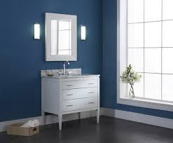 36 inch white bathroom vanity. Manhattan 36 Inch Contemporary Bathroom Vanity White Finish With Remodel 10